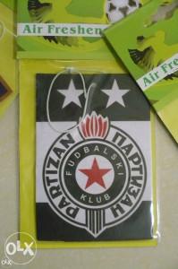 Partizan miris za auto / fragance fc partizan beograd