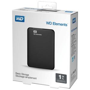 "WD Elements Portable 1TB USB 3.0 2.5"""