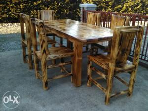 Vrtni namještaj drveni sto i stolice