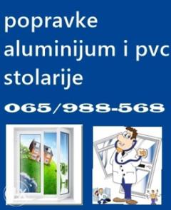 POPRAVKE ALU I PVC STOLARIJE