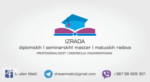 Diplomski, seminarski, master, maturski radovi!!!