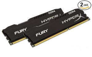 RAM DDR4 16GB 2400MHz (2x8) HiperX Fury KIN