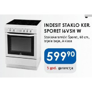 Indesit ŠPORET I6VSH stednjak samostojeci 60 cm bijeli