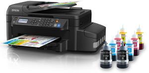 Printer EPSON L655 Print Scan Copy Fax WiFi Ethernet