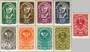 AUSTRIJA 1919 - Poštanske marke - 3224 - ČISTE