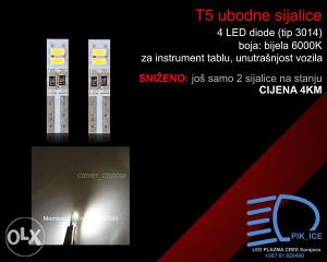 T5 bijele LED sijalice instrument tabla i unutrašnjost