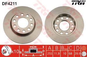 AUDI A4 (B6) Zadnji diskovi
