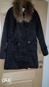 Zimska jakna, krzno rakuna 90 km DANAS L kao nova