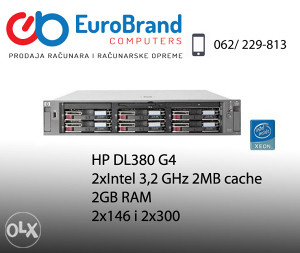 Server HP Proliant DL380 G4,dual, 2 GB RAM