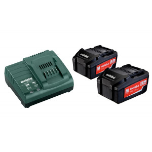 Metabo aku set BASIC SET 2x 5,2 Ah + ASC 30-36V