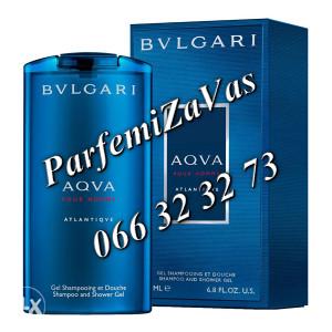 Bvlgari Aqva Pour Homme Atlantiqve 200ml Shampoo Shower Gel m 200 ml