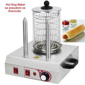 Hot Dog masina, maker sa posudom za kobasice