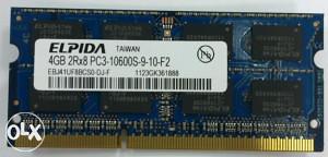 Memorija za laptop 2x4gb=8gb 1333MHz 65km