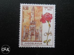 Markica 100 godina 1. maja Jugoslavija (1990 god.)