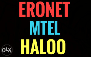 Eronet, Mtel i Haloo broj  - sim kartice