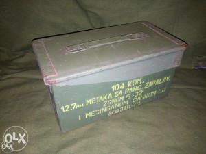 Kutije za municiju 12.7 ( kutija za alat militarija )
