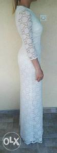 Bijela cipkana haljina/vjencanica