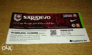 Ulaznica Sarajevo - Radnik