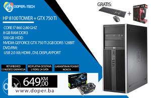 RAČUNAR CORE I7 2,80GHz, 8GB DDR3, 500GB, GTX 750TI
