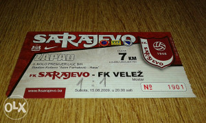 Ulaznica Sarajevo - Velez