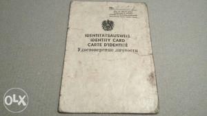 Austrijska identitetska karta1949.g Okupaciona USA zona