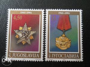 Serija 50 godina ustanka Jugoslavija (1991 god.)