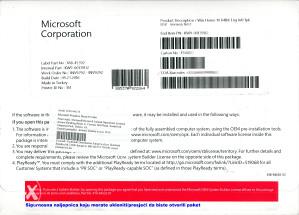 Microsoft Windows 10 Home 64Bit (sa licencom)
