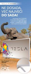 "Tesla 58"" LED TV 58S356 DVB-T2, DVB-S2 SILVER 147cm"