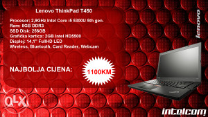 Lenovo Thinkpad T450 Core i5 5th gen.