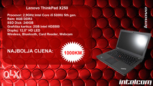 Lenovo Thinkpad X250 Core i5 5th gen.