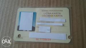 Stara lična karta BiH