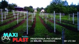 Plastični kolci,stubovi za maline,vinograde i voče