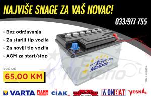 Akumulatori 65 KM bez održavanja!