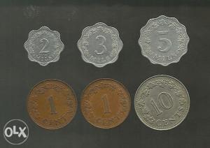 Malta set od 6 kovanica (K50)