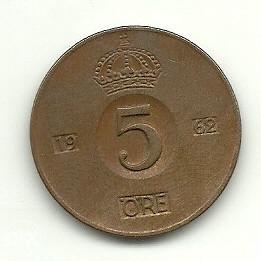 Švedska 5 ore 1962  (K149)