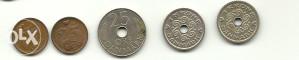 DANSKA lot od 5 kovanica (K90)