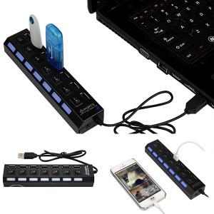 7 Port USB 2.0 Adapter sa ON/OFF prekidačima