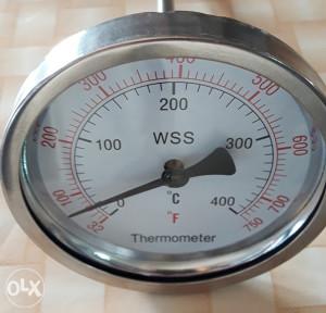 TERMOMETAR SA SONDOM 0-400°C FI 100mm 8x200mm