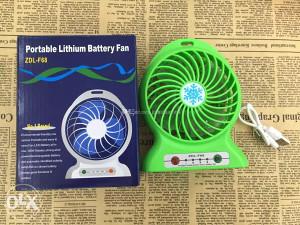 Mini USB ventilator + POWER BANK ZELENI